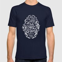 Work Hard & Render Fast … Mens Fitted Tee Navy SMALL