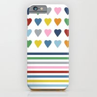 Hearts Stripes iPhone 6 Slim Case
