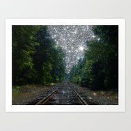 Train Tracks Dream Art Print
