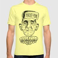 forever young Mens Fitted Tee Lemon SMALL