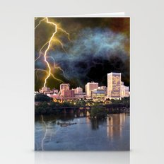 Stormy Richmond Skyline Stationery Cards