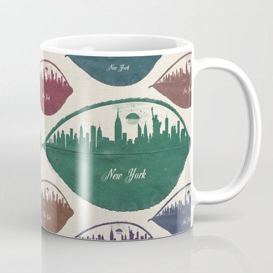 New York Skyline at Sunrise Mug