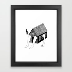 Sunday Chilling Framed Art Print