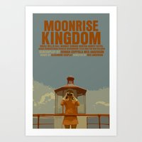 moonrise kingdom Art Prints featuring Moonrise Kingdom by FunnyFaceArt