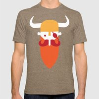 Viking Mens Fitted Tee Tri-Coffee SMALL