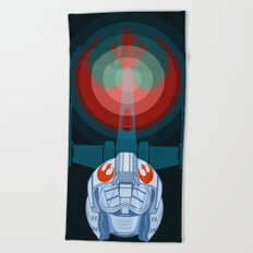 Red leader standing by Beach Towel
