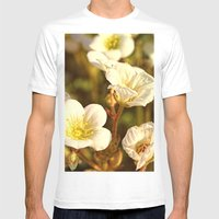 Peaceful Mens Fitted Tee White SMALL