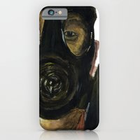 iPhone & iPod Case featuring Gas mask by Matthew Lok