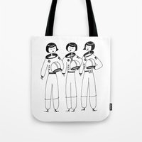 Flapper Astronauts Tote Bag