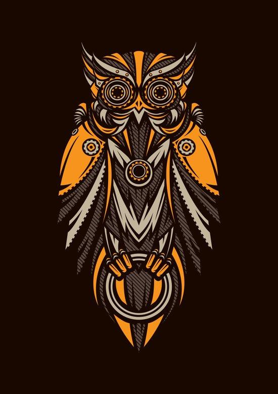 Owl-bots Art Print