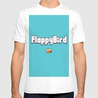 Flappy Bird Mens Fitted Tee White SMALL