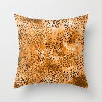Wild (Series) Gold Throw Pillow