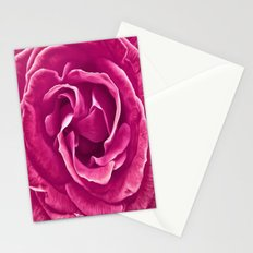 Painted Pink Rose Stationery Cards