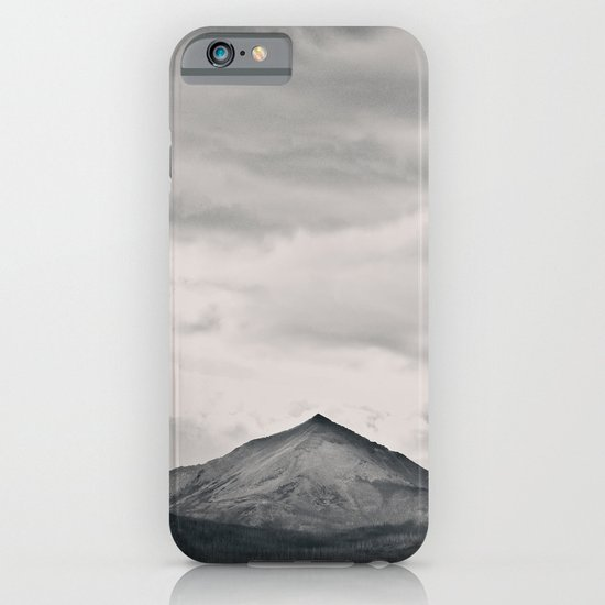 Mountain Peak and Plateau Black and White iPhone & iPod Case