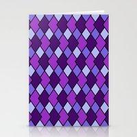 Big Harlequin Purple_Multi Stationery Cards