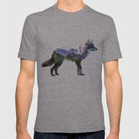 The Rocky Mountain Gray … Mens Fitted Tee Tri-Grey SMALL