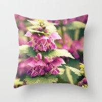 Wild Shades Of Purple Throw Pillow
