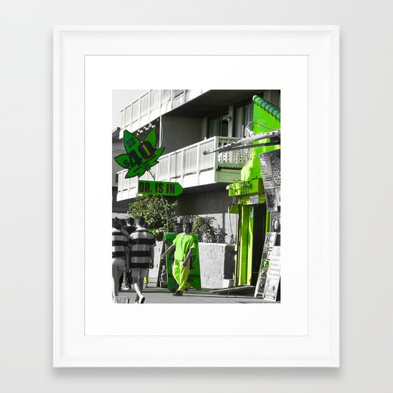 The Doctor Is In... Framed Art Print
