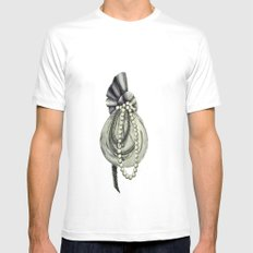 Pearly Lacyness SMALL White Mens Fitted Tee