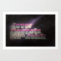 Never Sleep / Lets Rokk Horizontal Art Print