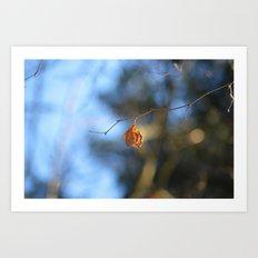 Last leaf Art Print