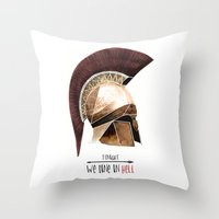 Tonight We Dine In Hell Throw Pillow