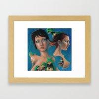Women and Monsters Framed Art Print