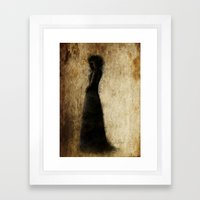 Woman In Black Framed Art Print
