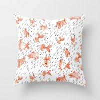 Rainy Fish Throw Pillow