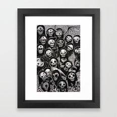 Dias de los muertos Framed Art Print