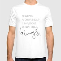 Being Yourself Mens Fitted Tee White SMALL