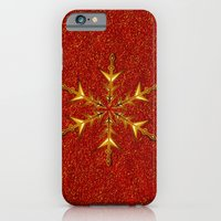Golden Snowflake On Red … iPhone 6 Slim Case