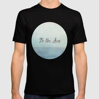 To The Sea  Mens Fitted Tee Black SMALL