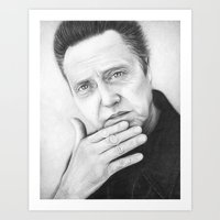 Christopher Walken Portrait Art Print