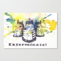 Daleks From Doctor Who Canvas Print