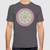 Zentangle Mens Fitted Tee Asphalt SMALL
