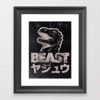 Big In Japan (Black Stee… Framed Art Print