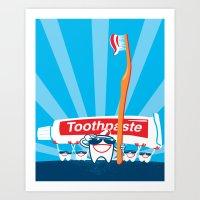 Teeth on Parade Art Print