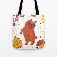 Happy Fall, Dogs! (Pug) Tote Bag