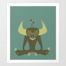 Love Monster 2 Art Print