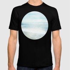 Feel the Sea SMALL Mens Fitted Tee Black