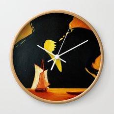 Romantic sunset Wall Clock