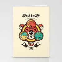 Pocket Monster Trainer Stationery Cards