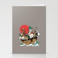 Miyazaki's ark Stationery Cards