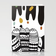 Stationery Cards featuring Black And White Landscap… by FLATOWL