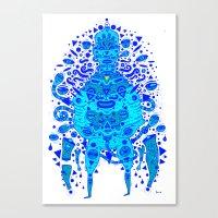 Igen Igen Blue Canvas Print