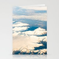 Mountains with snow Stationery Cards