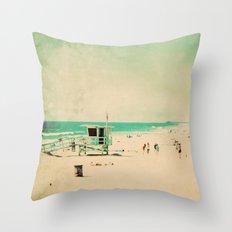 Nostalgia. Hermosa Beach photograph Throw Pillow