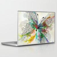 butterfly Laptop & iPad Skins featuring Butterfly by Klara Acel