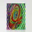 BRAINMAN #1 Psychedelic Vibrant Character Design Stationery Cards